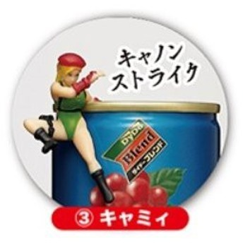 ストリートファイター 缶にちょいおきできる キャミィ