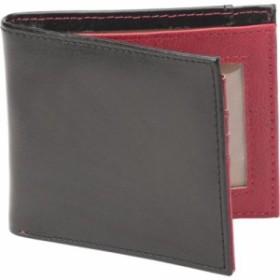 ワンボイス お財布 メンズ【1Voice The Vault RFID Blocking Leather Wallet】Textured Black/Burgu