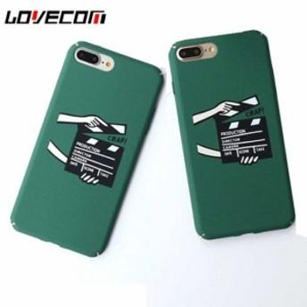 iPhoneケース おしゃれなグリーン マットハードケース かわいい映画のカチンコ パレットイラスト