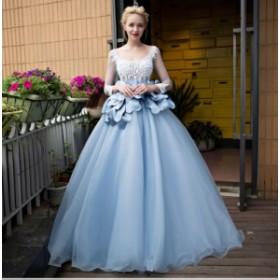 大人気ロングドレス 演奏会 パーティードレス 結婚式 ドレス ウェディングドレス お呼ばれ 発表会 フォーマル刺繍 二次会 ドレス