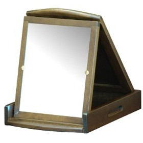 卓上ミラー 折鏡 一面タイプ 天然木 幅26.5cm ( 送料無料 ミラー 鏡 木製 卓上 スタンドミラー コンパクトミラー 折りたたみ 折立ミ