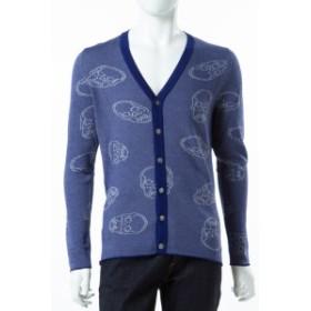 2017年春夏新作 ルシアンペラフィネ lucien pellat-finet カーディガン メンズ (AT2407H)ブルー