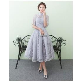 豪華結婚式 ワンピース ドレス 袖あり ウェディングドレス 二次会 パーティドレス ロング お呼ばれドレス 大きいサイズ成人式 ドレス