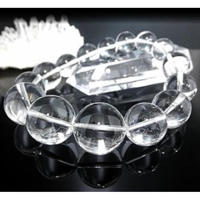 ★極太★天然水晶ブレスレット【高級12mm珠、高級14mm珠、高級16mm珠、高級18mm珠】 (クリスタル、石英)