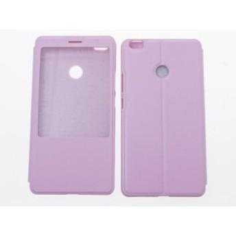 小米 Xiaomi Mi Max 窓付き 横開き 手帳式 保護ケース#ピンク【新品/送料込み】