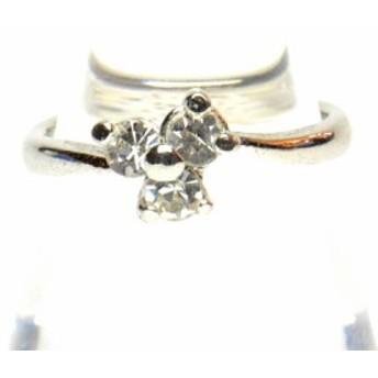 ラインストーン付き デザイン リング 9号 指輪 レディース アクセサリー h-re591