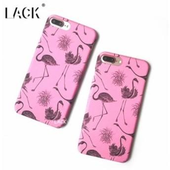 iPhoneケース おしゃれなフラミンゴのイラスト かわいいピンク 人気のハードケース