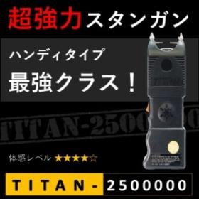 スタンガン TITAN-2500000 タイタン250万ボルト 充電式【送料無料】【護身・防犯】