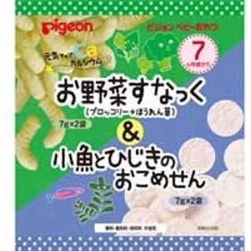 【ピジョン ベビーおやつ 小魚とひじきのおこめせん&お野菜すなっく 7g4袋】
