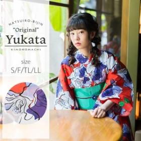 京都きもの町オリジナル 浴衣単品 薔薇