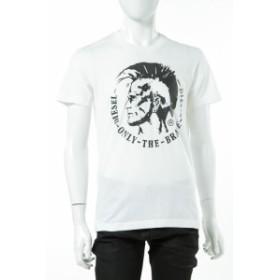 ディーゼル DIESEL Tシャツ メンズ (00SFFC RJAIL) ホワイト