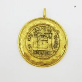 1dd8fc8f6e78 シャネル CHANEL ネックレス ヴィンテージ カンボン メダル ゴールド 小物【中古】