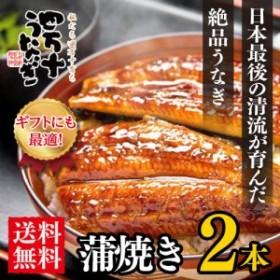 【日本最後の清流が育んだ】四万十うなぎ蒲焼き2本【送料無料】【国産鰻】
