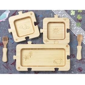 agney ジグソープレートセット 食器 お皿 木 木製 仕切りプレート 赤ちゃん ベビー キッズ 子供 お食事 お祝い 日本製 誕生日 誕生日