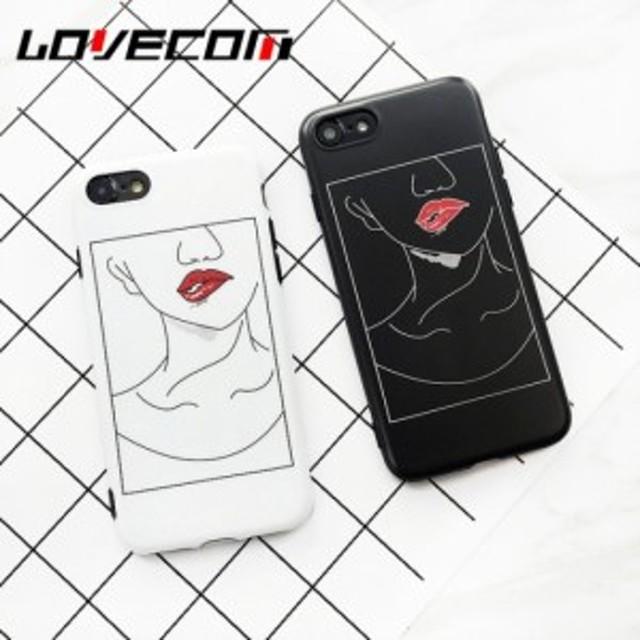 Iphoneケース 2タイプ 女の子の唇アート おしゃれなリップ 人気