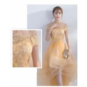 上品さオフショルダードレス お呼ばれドレス レースマーメイドドレス花嫁ドレス ウェディングドレス 二次会  大きいサイズ 披露宴