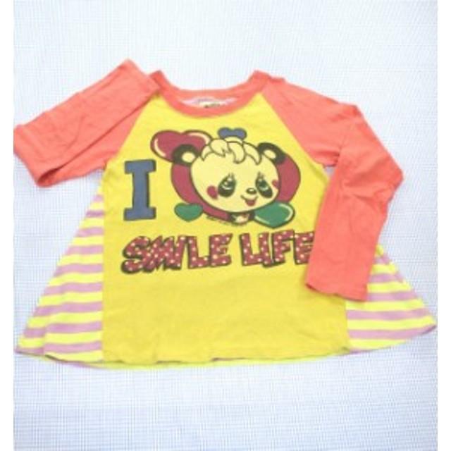 bd2feadd1ec6f グラグラ GRANDGROUND 長袖Tシャツ ロンt チュニックタイプ ボーダー 130cm 女の子 キッズ 子供服