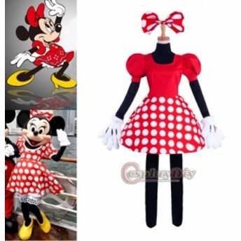 高品質 高級コスプレ衣装 ディズニー ハロウィン 風 ミニー タイプ ダンサー衣装 Minnie Mouse Outfit Cosplay Costume
