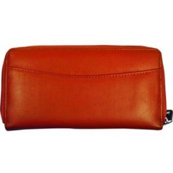 ブッドレザー お財布 レディース【Budd Leather RFID Calf Double Zip Credit Card Wallet】Orange