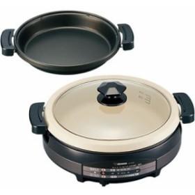 グリル鍋 電気鍋 象印 卓上グリルなべ 1台2役 土鍋風グリルパン