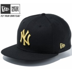 【新品】 ニューエラ 950 スナップバック キャップ MLB ニューヨークヤンキース ユーエスエーフラッグ ブラック ゴールド New Era NewEra