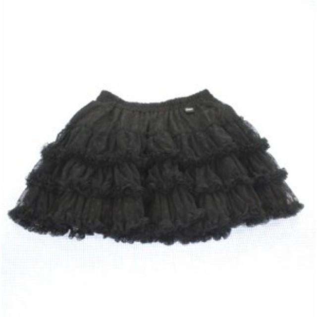 ジェニィ Jenni ジェニー  スカート ドット 140cm 美品 黒系 女の子 ジュニア 子供服