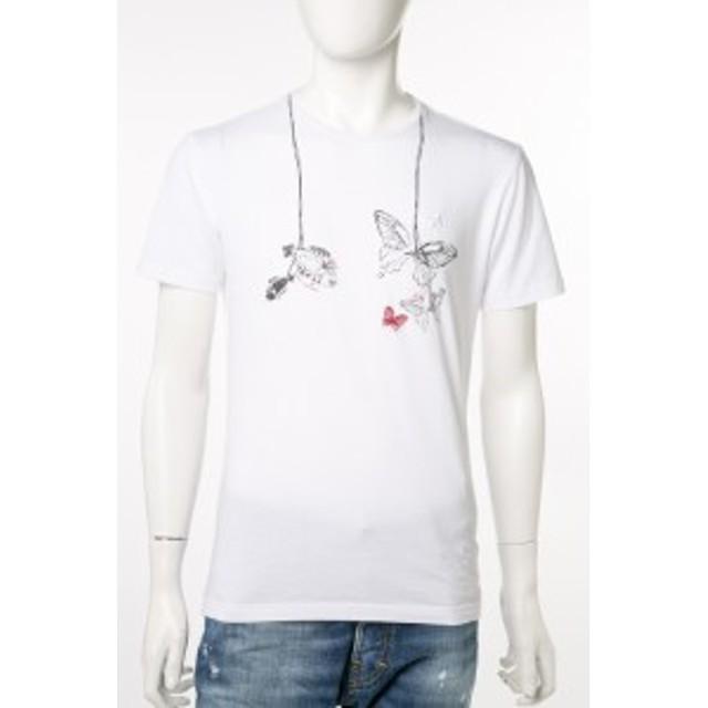 2017年春夏新作 ダニエレアレッサンドリーニ DANIELEALESSANDRINI Tシャツ メンズ (M6188E6433700) ホワイト