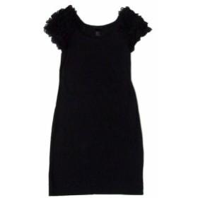 H&M エイチアンドエム フリルデザインワンピース (黒 フォーマル ドレス) 103506【中古】