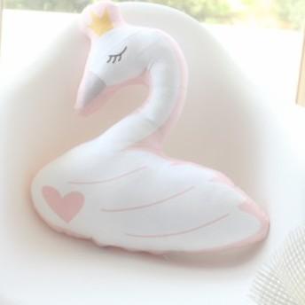 【送料無料】ぬいぐるみ スワン クッション抱き枕 動物 白鳥 だきまくら プレゼント 雑貨 インテリア 贈り物 45cm