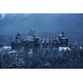 【カナダのポストカードのAIR】アルバータ州Fairmont Banff Springs ファーマウントバンフホットスプリングスホテルの葉書ハガキはがき