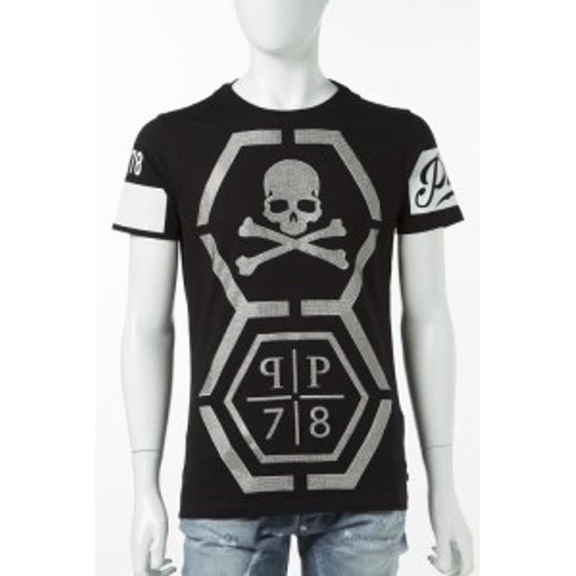 2017年春夏新作 フィリッププレイン PHILIPP PLEIN Tシャツ メンズ (S17C MTK0144)ブラック