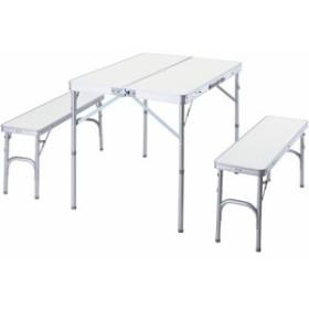 バンドック(BUNDOK) キャンプ テーブル&ベンチ セット BD-230 【バーベキュー アウトドア 机 椅子 チェア 折りたたみ】