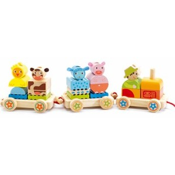 送料無料 DJECO ファームトラクター 積み木 ブロック 1歳 2歳 3歳 | 木のおもちゃ 木製 子供 誕生日プレゼント 誕生日 男の子 男 女の子