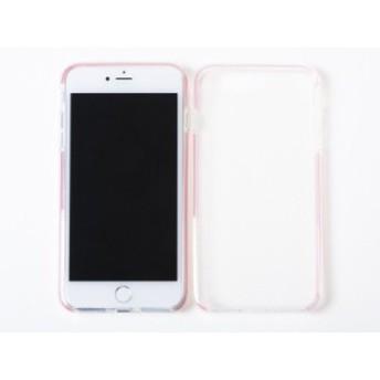 Apple iPhone 7 Plus iPhone 8Plus用 シンプル 防塵 ダブルカラー 半透明 TPU製 ソフトケース 保護カバー #ピンク