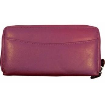 ブッドレザー お財布 レディース【Budd Leather RFID Calf Double Zip Credit Card Wallet】Pink