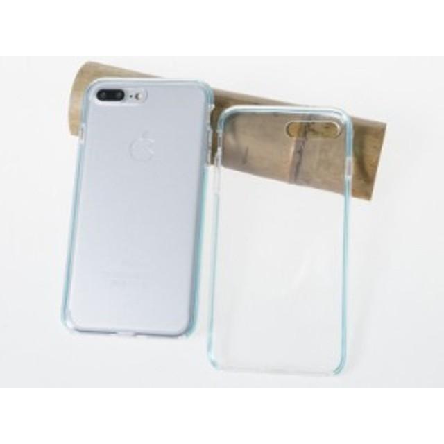 Apple iPhone 7 Plus iPhone 8Plus用 カラフルバンパー 全面カバー 軽量型 TPUシリコン製 ソフトケース 保護カバー#ブルー【新品/送料込