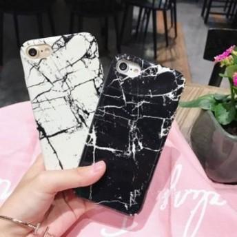 iPhoneケース 2タイプ つや消しハードケース おしゃれな大理石柄 人気のマーブル かわいい
