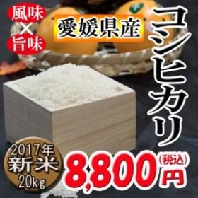 コシヒカリ 愛媛県産 農家直送 2017年 新米 玄米 精米可 20kg 送料無料