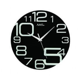アームス AMS 9461 クオーツ掛時計 ブラック 送料区分(大)