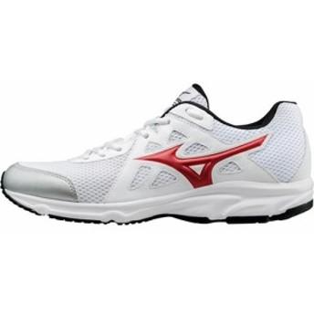 ミズノ(MIZUNO) マキシマイザー 19 ホワイト×レッド K1GA170062 【ランニングシューズ スニーカー メンズ 靴】