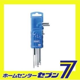 Sボールポイント六角棒スパナ TMS-7DP エイト [作業工具 六角棒レンチ ボールポイントセット]