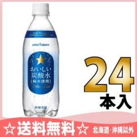 ポッカサッポロ おいしい炭酸水 500ml ペットボトル 24本入