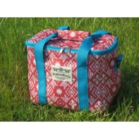 ( ファニーフィールド クーラースクエアバッグ ネイティブレッド ) エコバッグ 保冷バッグ 買い物バッグ ピクニック