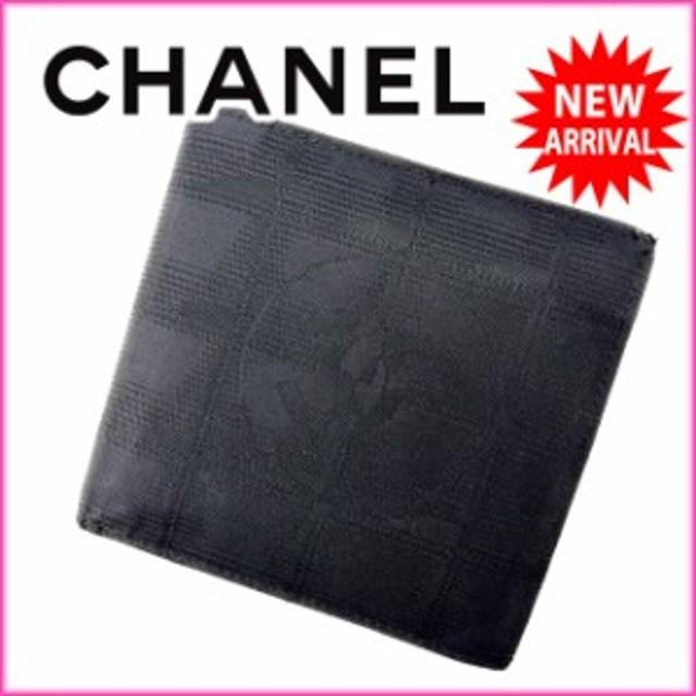 825fae4f2738 シャネル CHANEL 二つ折り財布 メンズ可 ニュートラベルライン人気 良品【中古】 Y1277