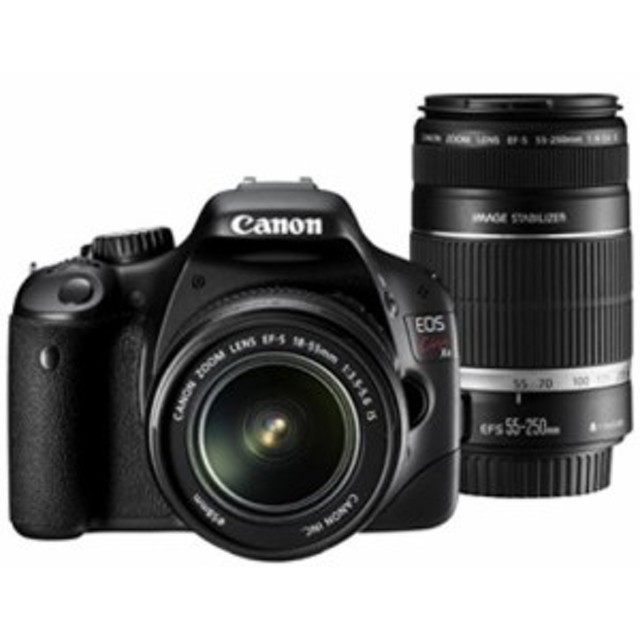 【中古 保証付 送料無料】Canon デジタル一眼レフカメラ EOS Kiss X4 ダブルズームセット 初心者向け /  一眼レフカメラ/送料無料