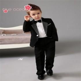 男の子スーツ 子供フォーマルスーツ ブラック 4点セット 入学式 卒業式 新作 結婚式 七五三 発表会
