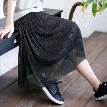 ジーラ バイ リュリュ(ファッション)(GeeRA by RyuRyu)/【WEB限定】ラメ入りチュールスカート