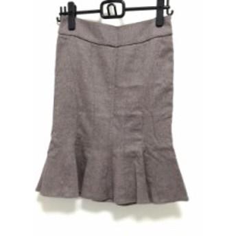 マテリア MATERIA スカート サイズ38 M レディース ピンクブラウン ラメ【中古】