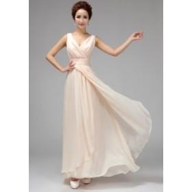 マキシ丈 パーティードレス セクシー フォーマル ブライズメイドドレス/結婚式二次会卒業式 花嫁の介添え着痩せ 6デザイン 品質良い