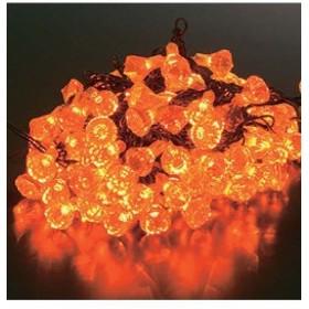 クリスマスツリー電飾 耐水100球LEDイエローダイヤモンドライト/常点灯(パワーコード付き) [PALI6991]